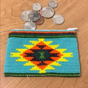 Seed Bead Coin Bag